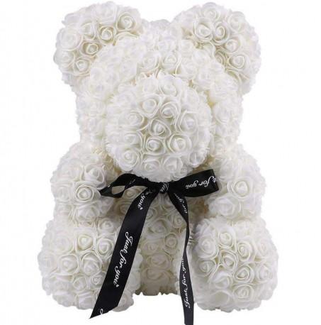 Ivory Rose Teddy Bear