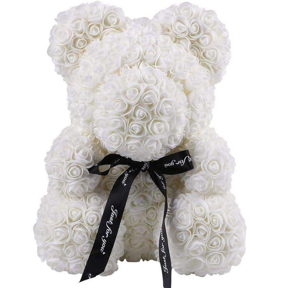 Ivory Rose Teddy Bear
